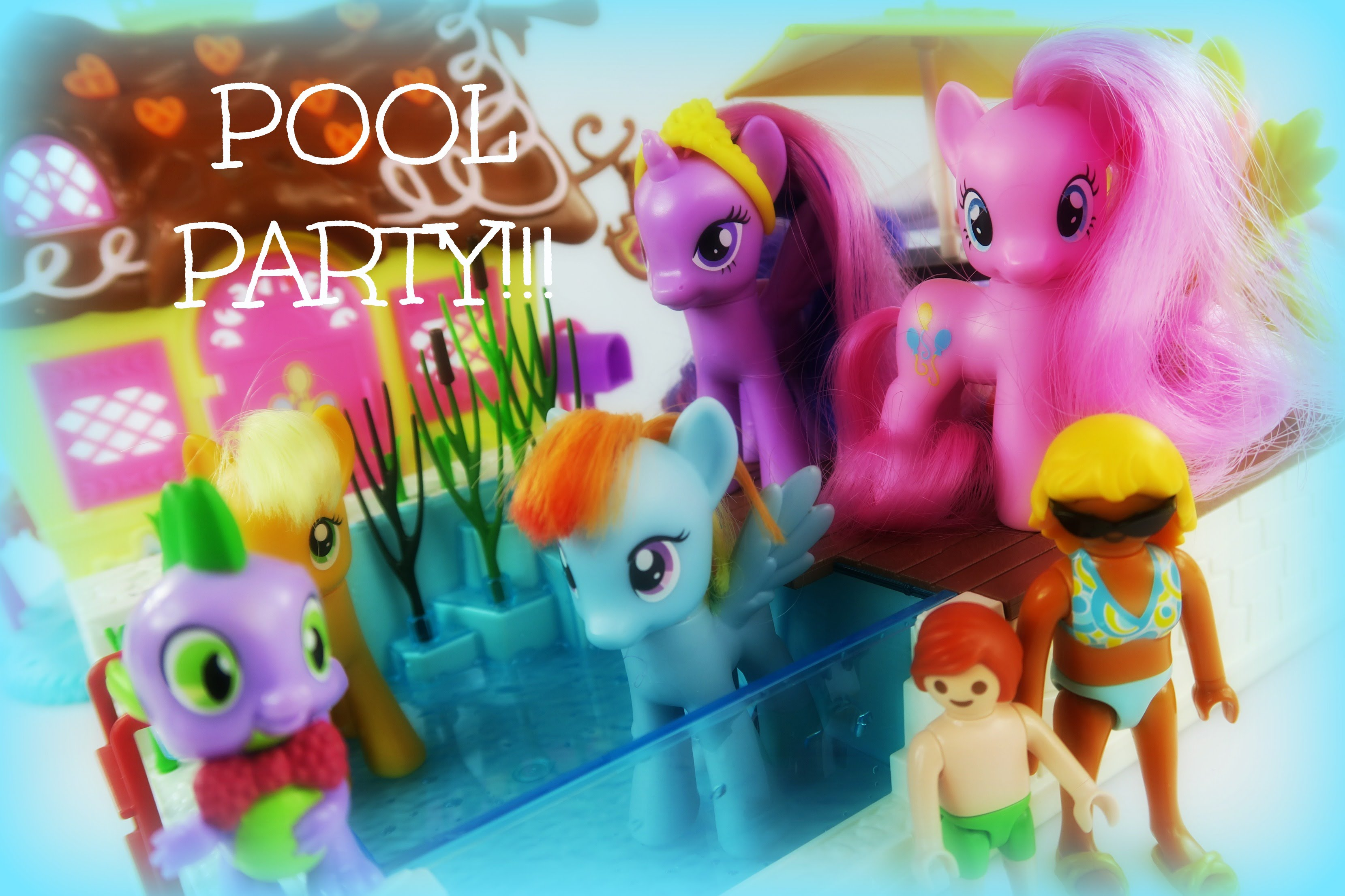 MLP Pinkie Pie's Pool Party!  PlayMobil CityLife Swimming Pool