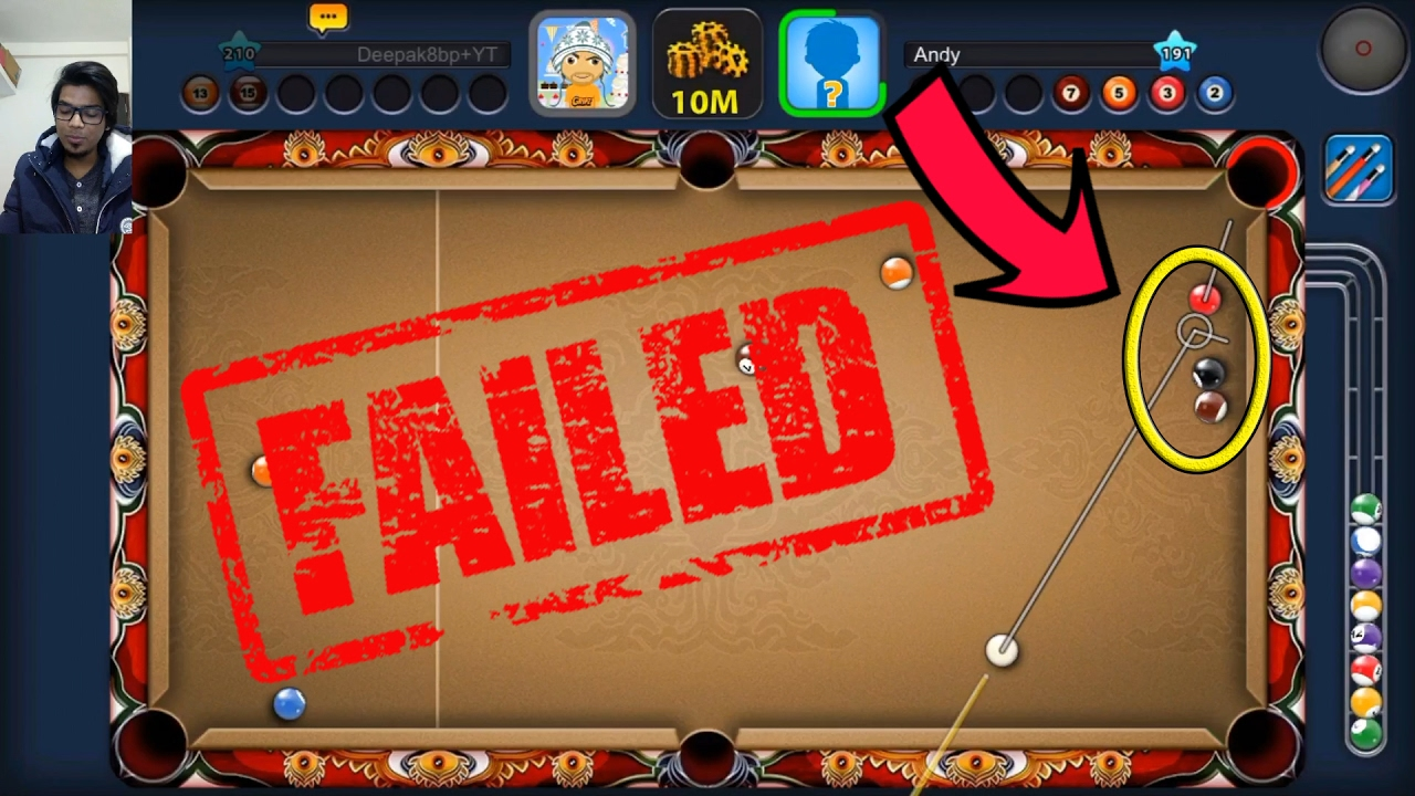 8 Ball Pool The Moment Of Truth  Safety Backfired -Bangkok Temple- w/King Cue (facecam)