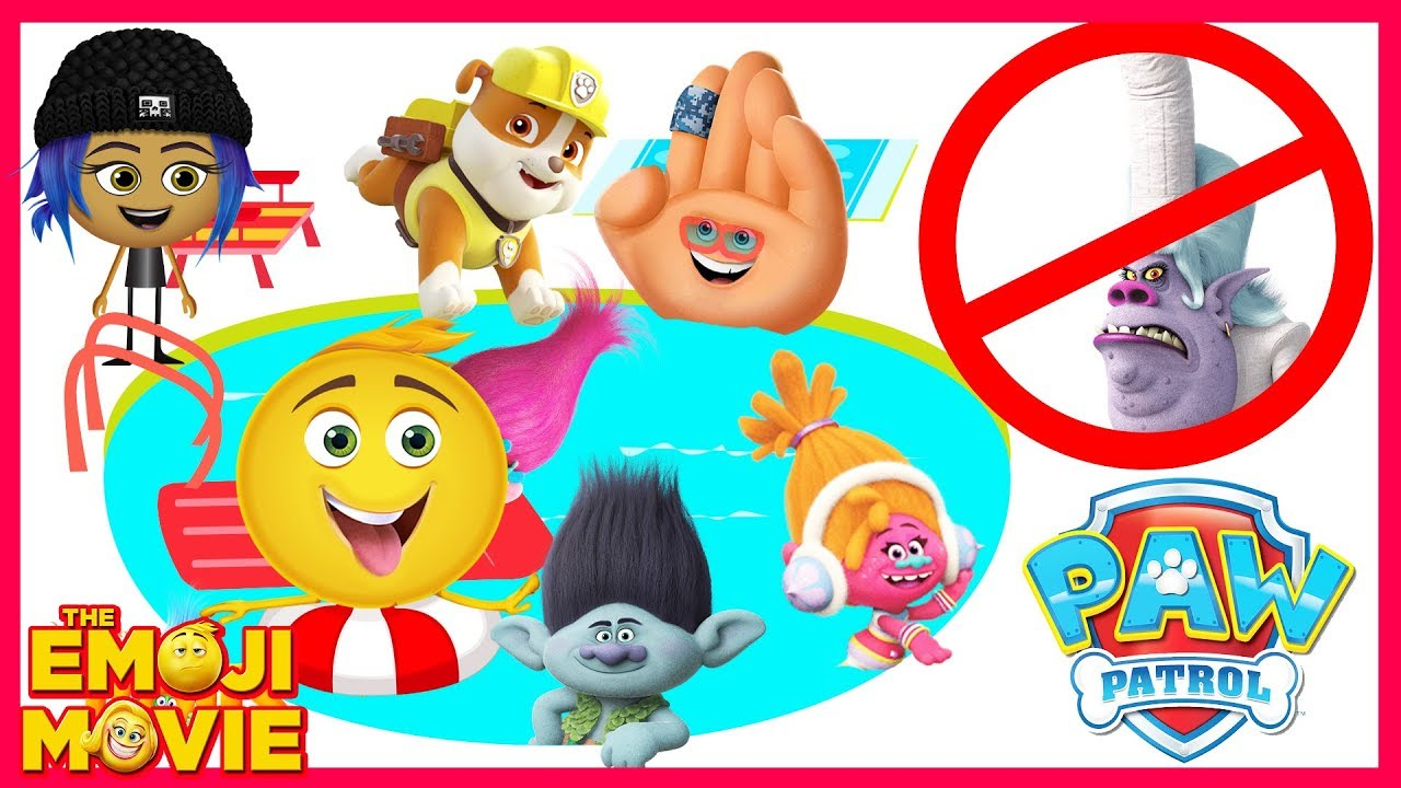 The Emoji Movie Swimming Pool Party with Hi-5, Gene, Paw Patrol Chase and Trolls Chef