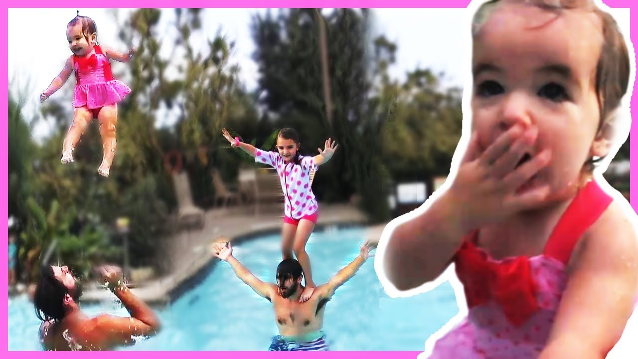 THROWING BABY IN THE SWIMMING POOL!!😮